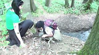 female domination at trekking tour