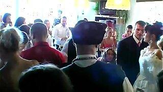 Wedding sluts are fucking in public