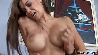 Busty bitch gets her soaking wet pussy plastered