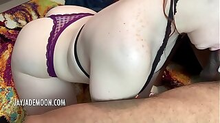 Sexy Redhead gives Intense BJ followed by Hardcore BBC Pounding PART 1 • Amateur JayJadeMoon