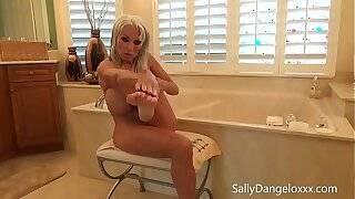 behind the scenes brazzers Sally D'angelo  #shower #feet #oil #lotion