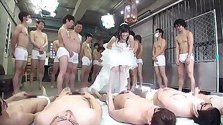 japanese bride gangbang with 100 men
