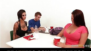 UK ball player gets to fuck Bonnie Rotten with his massive cock
