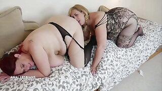 Big tits lesbian Anal Ladies