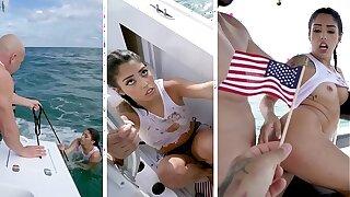 BANGBROS - Cuban Hottie, Vanessa Sky, Gets Rescued At Sea By Jmac