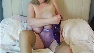 My purple satin nightie
