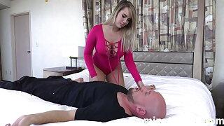 Worshiping Mistress Lily Lane's feet
