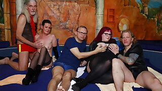 German swinger orgy in a sex club